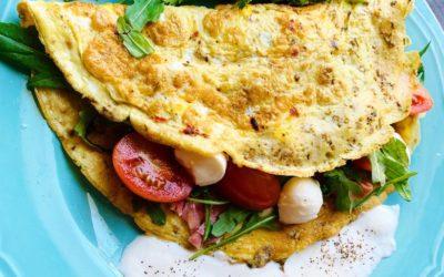 Przepis na omlet wytrawny w stylu śródziemnomorskim